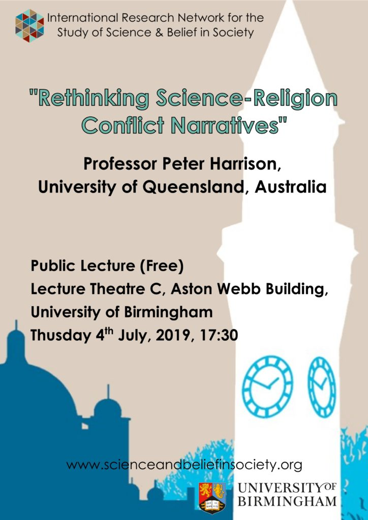 Rethinking Science Religion Conflict Narratives - public lecture